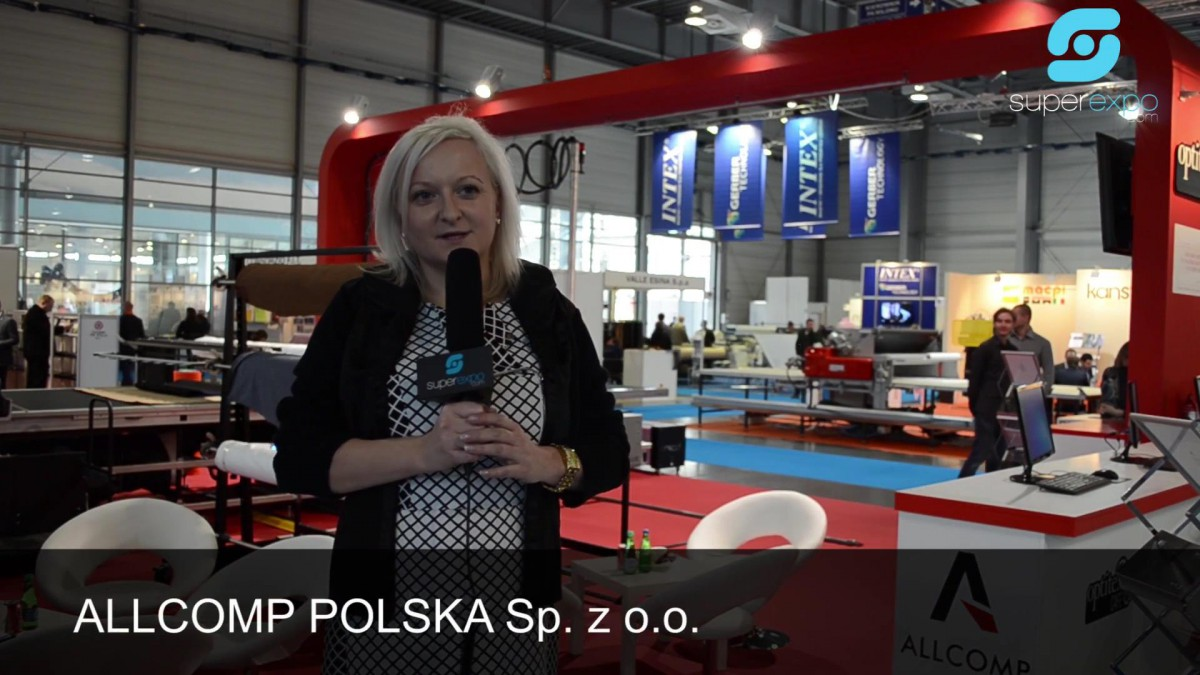 Company stand Allcomp Polska Sp. z o.o. on trade show Poznań Fashion Fair - February 2014