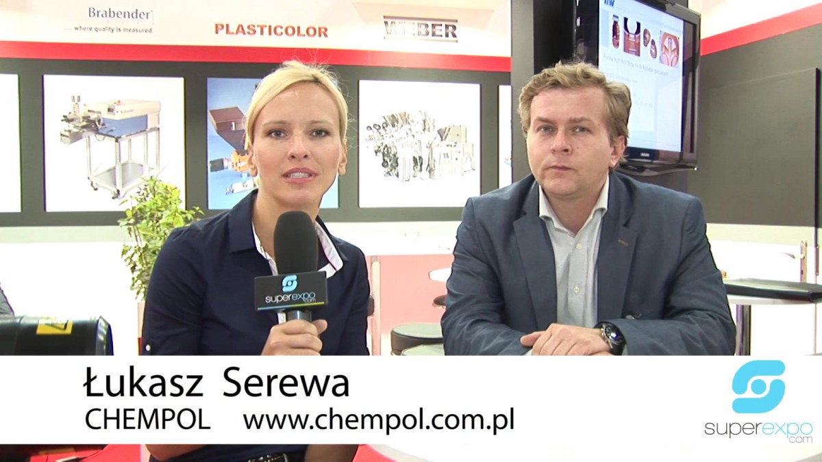 Company stand CHEMPOL IMPORT-EXPORT on trade show PLASTPOL 2014