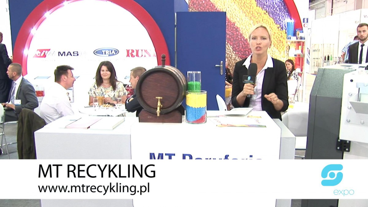 Company stand MT RECYKLING Sp. z o.o. on trade show PLASTPOL 2014