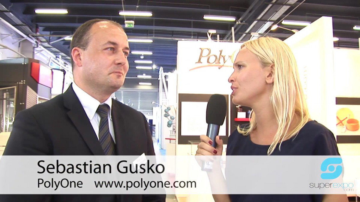 Company stand POLYONE Poland Manufacturing Sp. z o.o. on trade show PLASTPOL 2014