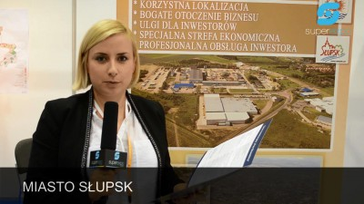 Company stand MIASTO SŁUPSK on trade show GMINA & INVESTFIELD 2014
