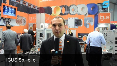Company stand IGUS Sp. z o.o. on trade show TOOLEX & WIRTOTECHNOLOGIA & LASEREXPO & SteelMET & OILexpo & SURFPROTECT & TEZ Expo 2015