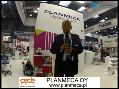 Company stand PLANMECA OY on trade show CEDE 2013