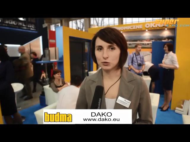 Company stand DAKO Sp. z o.o. on trade show BUDMA 2013